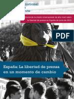 Libertad de Prensa en España en un momento de cambio