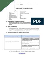 20130607silabo de Tecnicas de Comunicacion