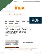 35 Motores de BD Open Source - Muylinux