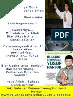 Yuk Usaha Bareng Ustadz Yusuf Mansur
