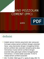 4. Portland Pozzolan Cement (Ppc)