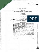 Leohnard Euler - Solutio Problematis Geometrici