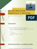BIOTECNOLOGIA AGRÍCOLA Y VEGETAL