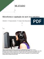 Microfones e Captação Do Som Nos Estúdios _ BLOG DO HOME STUDIO