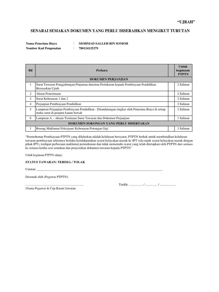 Surat Tawaran Ujrah
