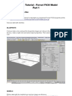 3Ds Max TutorialFerrari F430 ModelPart 1