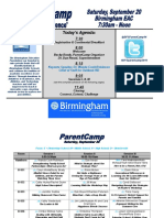 parentcamp schedule 2014