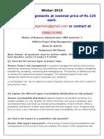 PM0016-Project Risk Management