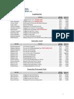 Lista de Precios 2014 Rodhas