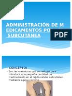 Administración de Medicamentos Por Vía Subcutánea