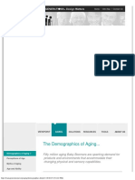 Demographics of The Aging people