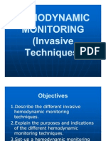 Hemodynamic Monitoring(Invasive Techniques)