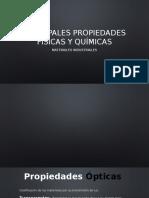 Principales Propiedades Físicas y Quimicas