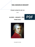 Mozart Piano Sonata No 16 KV545 Anotado