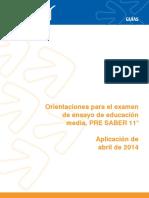 Guia Pre Saber 11 2014-1