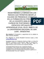 5 08 MUNOZ Sonia Criterios e Indicadores Evaluativos Para La Educacion a Distancia