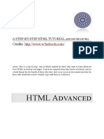 Step-By-Step HTML Tutorial - Advanced