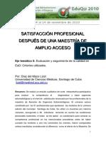 5 17 DEL MAZO DIAZ Lizel Satisfaccion Profesional Despues de Una Maestria de Amplio Acceso