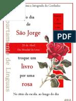 Cartaz para o Dia de São Jorge
