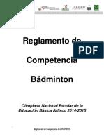 Reglamento Badminton