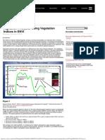 Vegetation Analysis Using Vegetation Indices in ENVI