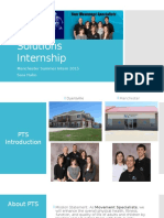 physical therapy solutions internship