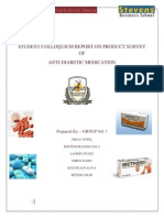 Report-Anti Diabetic Medication