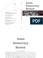 Asian Democracy Review (Vol. 3, 2014 Complete)