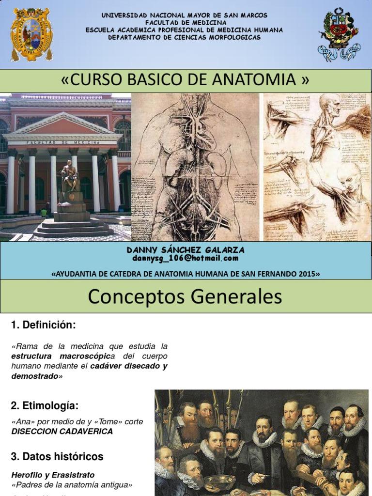 Generalidades de Anatomia UNMSM