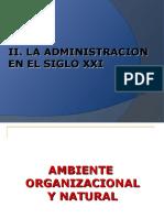 Administracion 2 - La Administracion en El Siglo Xxi