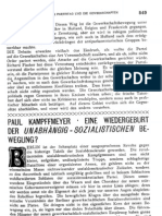 Paul Kampffmeyer - Eine Wiedergeburt der unabhängig-sozialistischen Bewegung? (1905)