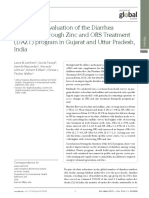 An External Evaluation of the Diarrhea Alleviation Through Zinc and ORS Treatment Program in Gujarat and Uttar Pradesh