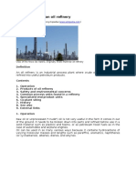 Wikipedia - Presentation of an oil refinery.doc