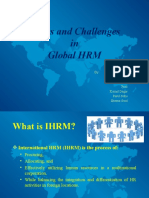 Issues and Challenges in IHRM