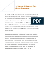 The Role of Jamea Al Kauthar for Islamic Education
