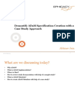 Abhinav Jain Demystifying ADAM Specification Creation