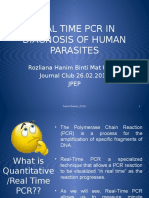 Real Time Pcr in Diagnosis of Human Parasites