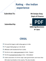 Credit Rating - The Indian Experience