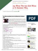 Cara Memasang Menu Bar Dan Sub Menu Bar Di Halaman Blog Jadipintar