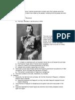 russian revolution outline