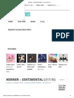 WINNER - Sentimental (센치해) - Color Coded Lyrics