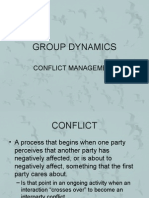 Group Dynamics Conflict)