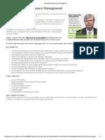 Operational Performance Management