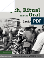 Goody, Jack - Myth, Ritual and the Oral 2010