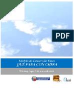 Modelo de Desarrollo Vasco. QUE PASA CON CHINA