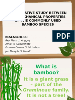 Comparative Study Between the Mechanical Properties of the Commonly Used Bamboo Species