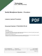 PTM-EDES-PR-40 - Lessons Learned Procedure.docx
