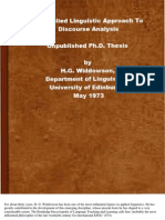 An Applied Linguistic Approach to Discourse Analysis (1973) 247p R20091229B