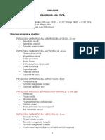 Programa Analitica Chirurgie an V