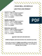 Final Exam Bell Schedule 09-10